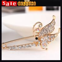 Broche Flower Butterfly Crystal Golden Brooch ,Rhinestone Crystal Pins Brooches for Women