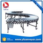Container,truck,vehicle,trailer,van Loading and Unloading Powered Roller Conveyor