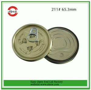 China 211 tuna fish can lid,65mm tomato paste lid,Tinplate easy open end,Tin can lid,Meat easy o on sale