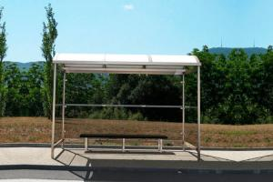 China Customized Color Modern Bus Shelter Design Water Proof Low Power Consumption on sale