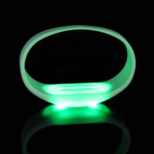 China Motion Activated Silicone LED Bracelet For Concert,Carnivals, Sporting Events, Party on sale