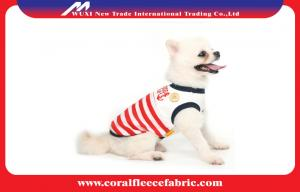 China Lovely Girl / Boy Dog Clothes Sailor T-shirt with Navy Stripe , Pet Accessories on sale