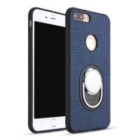 Leather Ring Holder Reusable Rotates 360 Degree Cell Phone Holder Case Ring For iphone 8
