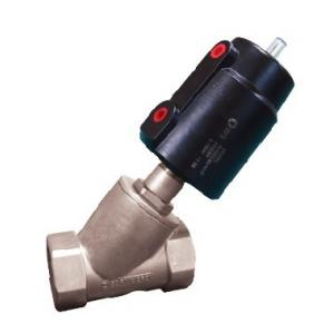 China Pneumatic angle seat Valve - Aluminum material single/double action on sale
