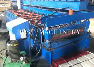 China Metal Roofing Sheet Roll Forming Making Machine, 3KW Chain Driven on sale
