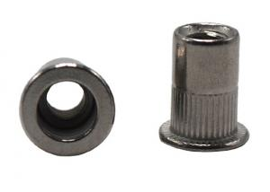 China M6 M8 M10 Size Knurled Rivet Nut / Blind Rivet Nut Round Head Style High Strength on sale