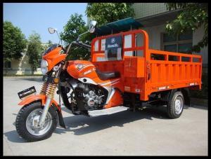 China Gasoline Three Wheel Cargo Motorcycle / Motorized Cargo Trike Drum Brake on sale