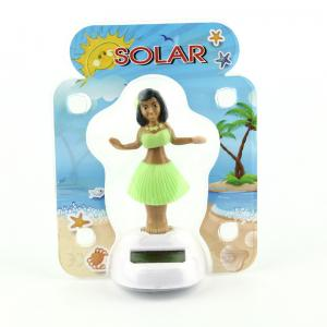 China Solar Powered Dancing Hula Girl-Green Suit  (Colors Vary)  car dashboard toy on sale