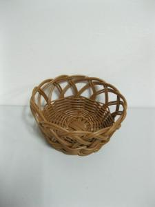China Decorative Stackable Poly Rattan Basket / Bread Basket Baskets For Storage on sale