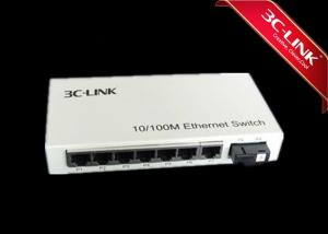 China Plug And Play Fast Ethernet Media Converter , Fiber Optic Ethernet Switch Flow Control Capabilities with 7-switched RJ45 on sale