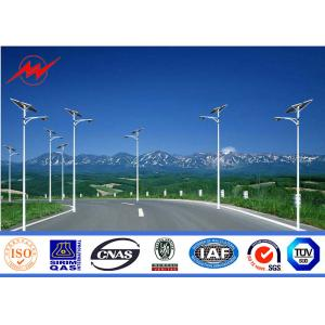 China 10m 3mm Thickness Solar Street Steel Utility Pole With Single Arm For Park Lighting on sale