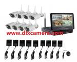 2Mp Water-proof 8ch 10Inch LCD Screen Wireless NVR Kit CCTV System  1080P WIFI IP Camera kit Outdoor IR Security Camera