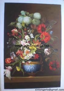 China Handpainted Flower Painting On Canvas on sale