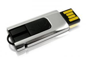 China Mini USB Storage Device Metal Sliding , 8GB USB Flash Drive Pen on sale