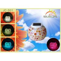 Color Changing Solar LED Emergency Light Solar Powered Night Light For KTV / Hotel