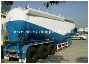 China Bulk cement tank semi trailer for coal ash powder Leaf spring suspension with warranty on sale