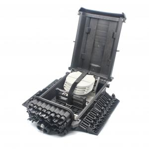 China Black Color Fiber Optic Termination FTTH Distribution Box Full Rugged Design on sale