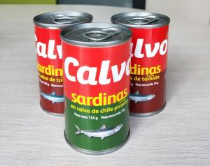 China Calvo Brand Canned Sardine Canned Fish in Tomato Sauce with or without Chili on sale