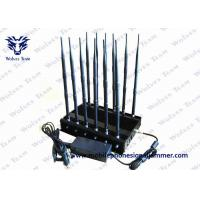 China 12 Band Jammer GSM DCS Rebolabile 3G 4G WIFI GPS Mobile Phone Signal Jammer on sale