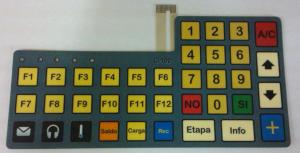 China Polyester Silk Printed Tactile Flexibile Membrane Switch Keyboard For Mobile Phone on sale