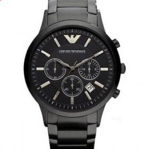 China Emporio Armani AR2453 Classic All Black Ion-Plated Men's SS Bracelet Watch Mens Armani Watches on sale
