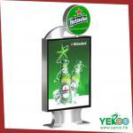 Los doble-lados de la publicidad al aire libre exhiben mupi de la caja de luz/de la luz con la pantalla del LED