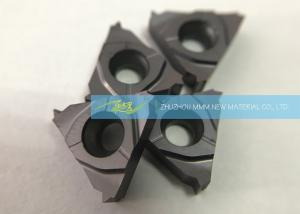 China Hardened Steel Carbide Thread Cutting Inserts With Pitch 8 T / Inch External Threads on sale
