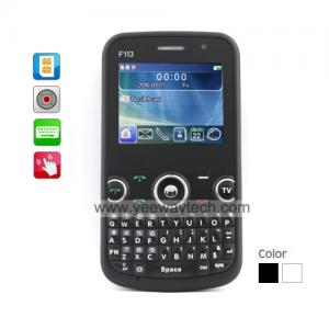 China World Phone Triple SIM QWERTY Touchscreen Cell Phone + G-Sensor on sale