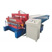 Roof Tile Double Layer Roll Forming Machine Electric Tension 380V 50 Hz 3 Phase