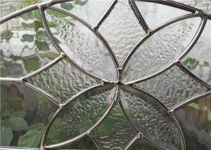 China Decorative Kitchen Cabinet Glass For Apartment Home Pattern Surface on sale