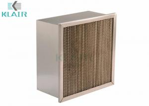 China Ashrae Merv 14 Air Filter High Temperature Series With Single Header Frame on sale