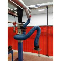 Wall mounted welding fume flexible extraction arms for dust collection system from source extraction