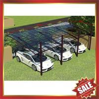 China modern outdoor rain sun pc polycarbonate aluminium aluminium parking car shelter canopy awning cover shield carport on sale