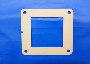 China Zirconia Flame Industrial Ceramic Parts 97% Alumina Ceramic 4 Bolt Hydraulic Square Flange on sale