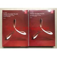 China Adobe Acrobat Pro DC For PDF Graphic Design Software Original DVD With Retail Box on sale