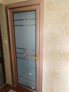 China aluminum doors swing doors  casement door bathroom toilet doors double glazed doors on sale
