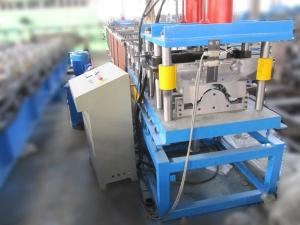 China 3T 4KW Ridge Cap Roll Forming Machine Hydraulic Cutting PLC Touch Screen Control on sale