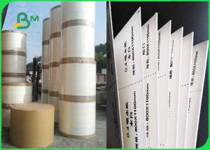 China 0.3mm 0.6mm Natural White Water Absorbent Cardboard Paper Roll  600mm x 80mm For Paper Coaster on sale
