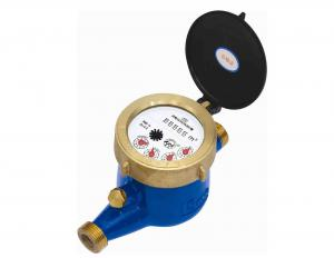 China R160 Brass Housing Multi Jet Water Meter , Residential External Magnetic Water Meter on sale