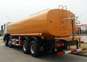 China SINOTRUK HOWO 8x4 Horsepower 371Hp Engine Oil Tank Truck , Oil Tanker Trailer 30m³ / H Pump Flow wholesale