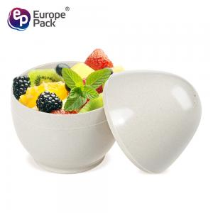 China Eco-friendly biodegradable 160ml egg shape Bamboo Fiber  dessert Cup on sale