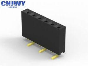 China Square Pin PCB Header Connector 2 Pins To 50 Pins 2.54mm Pitch For Computer on sale