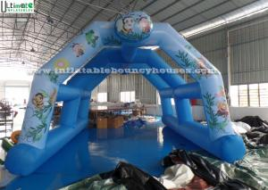China Blue Arch Type Inflatable Marquee , Custom Printing Inflatable Backpacking Tent on sale