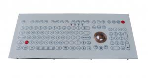 China Flat scrachproof industrial membrane keyboard with trackball and functional keys on sale