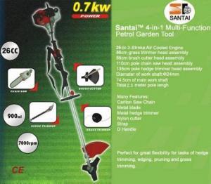 China Multi-fuction 4 in 1 Gasoline Brush Cutter--26cc/33cc on sale