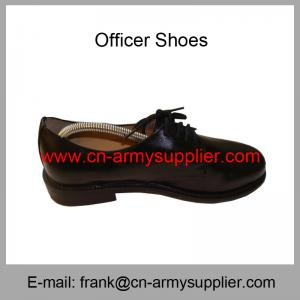 China Wholesale Cheap China Black Leather Sole Full Grain Leather Police Officer Shoes on sale