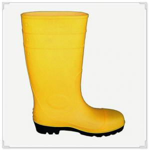 China Steel Toe Cap Safety Boot (For Men)  PVC safety boot meet CE EN 20345 S5, new style steel toe and midsole rain boot on sale