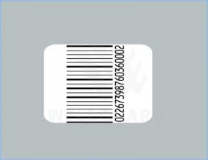China White EAS Anti-Theft Print Barcode Labels / EAS Security Label on sale