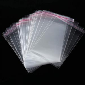 China Resealable Poly 1.4 Mil 5'' X 7'' Clear Cello Resealable Bags Self Sealing on sale