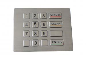 China Water proof and vandal proof keypad 16 keys compact format IP67 dynamic on sale